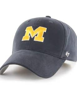 Michigan Wolverines KIDS 47 Brand Navy MVP Adjustable Hat