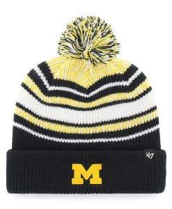 Michigan Wolverines KIDS 47 Brand Bubbler Navy Cuff Knit Hat