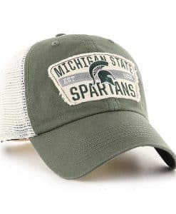 Michigan State Spartans 47 Brand Vintage Green Crawford Mesh Adjustable Hat