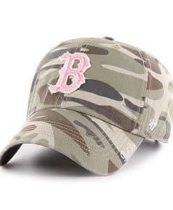 Boston Red Sox Women's 47 Brand Pink Camo Tarpoon Faded Adjustable Hat