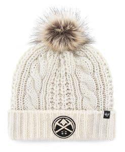 Denver Nuggets Women's 47 Brand White Cream Meeko Cuff Knit Hat