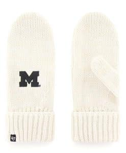 Michigan Wolverines Women's 47 Brand Meeko White Cream Mittens