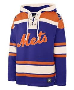 New York Mets Men's 47 Brand Blue Pullover Jersey Hoodie