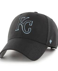 Kansas City Royals 47 Brand Columbia Black MVP Adjustable Hat
