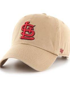 St. Louis Cardinals 47 Brand Khaki Clean Up Adjustable Hat