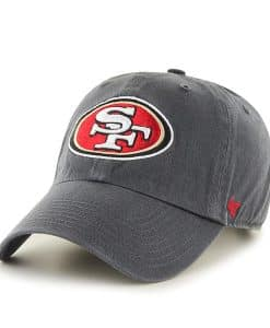 San Francisco 49ers 47 Brand Charcoal Clean Up Adjustable Hat