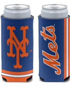 New York Mets 12 oz Blue Slim Can Koozie Holder