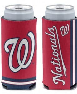 Washington Nationals 12 oz Red Slim Can Koozie Holder