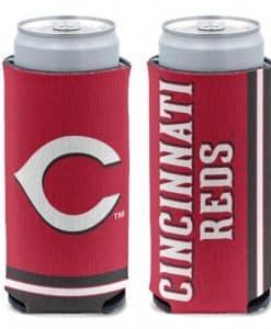 Cincinnati Reds 12 oz Red Slim Can Koozie Holder