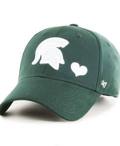 Michigan State Spartans KIDS 47 Brand Dark Green MVP Adjustable Hat