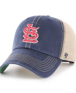 St. Louis Cardinals 47 Brand Trawler Navy Clean Up Mesh Snapback Hat