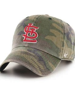 St. Louis Cardinals 47 Brand Camo Cargo Clean Up Adjustable Hat