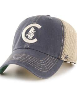 Chicago Cubs 47 Brand Vintage Navy Trawler Mesh Clean Up Adjustable Hat