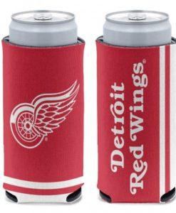 Detroit Red Wings 12 oz Red Slim Can Koozie Holder