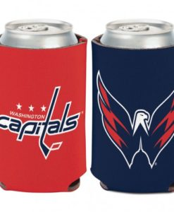 Washington Capitals 12 oz Red Blue Can Koozie Holder