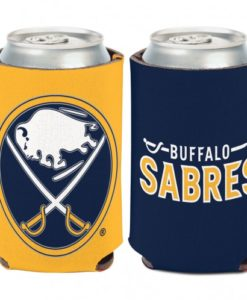 Buffalo Sabres 12 oz Blue Yellow Can Koozie Holder