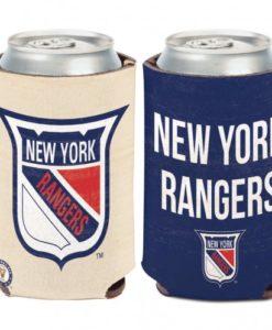 New York Rangers 12 oz Blue White Vintage Can Koozie Holder