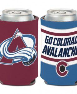 Colorado Avalanche 12 oz Blue Maroon Slogan Can Koozie Holder