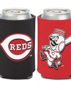 Cincinatti Reds 12 oz Black Red Can Koozie Holder