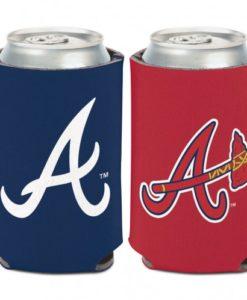 Atlanta Braves 12 oz Red Navy Can Koozie Holder