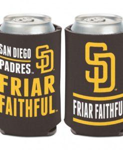 San Diego Padres 12 oz Brown Slogan Can Koozie Holder