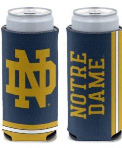 Notre Dame Fighting Irish 12 oz Blue Slim Can Koozie Holder