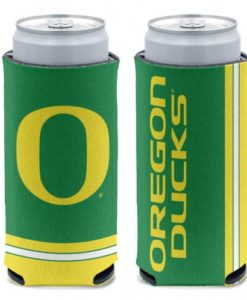 Oregon Ducks 12 oz Green Slim Can Koozie Holder