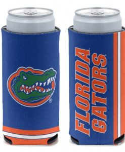 Florida Gators 12 oz Blue Slim Can Koozie Holder