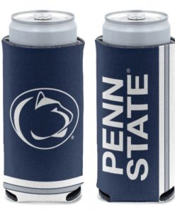 Penn State Nittany Lions 12 oz Navy Slim Can Koozie Holder