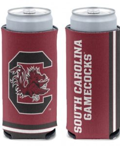 South Carolina Gamecocks 12 oz Red Slim Can Koozie Holder