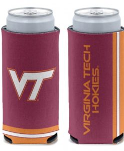Virginia Tech Hokies 12 oz Maroon Slim Can Koozie Holder