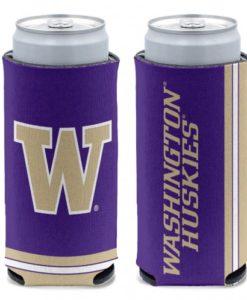 Washington Huskies 12 oz Purple Slim Can Koozie Holder