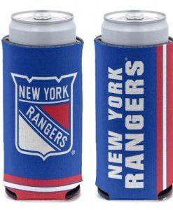 New York Rangers 12 oz Blue Slim Can Koozie Holder