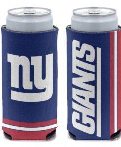 New York Giants 12 oz Blue Slim Can Koozie Holder