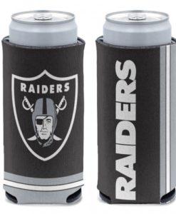 Las Vegas Raiders 12 oz Black Slim Can Koozie Holder