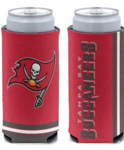 Tampa Bay Buccaneers 12 oz Red Slim Can Koozie Holder