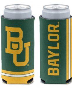 Baylor Bears 12 oz Green Slim Can Koozie Holder