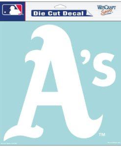 "Oakland Athletics Die-Cut Decal - 8""x8"" White"