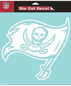 """Tampa Bay Buccaneers Die-Cut Decal - 8""""x8"""" White"""
