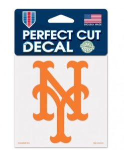 """New York Mets 4""""x4"""" Perfect Cut Color Decal"""