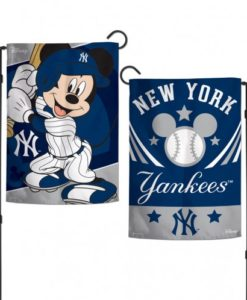 New York Yankees 12.5″x18″ 2 Sided Mickey Disney Mouse Garden Flag