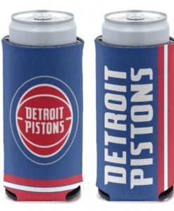 Detroit Pistons 12 oz Blue Slim Can Koozie Holder