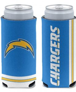Los Angeles Chargers 12 oz Blue Slim Can Koozie Holder