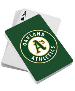Oakland Athletics Playing Cards - Diamond Plate