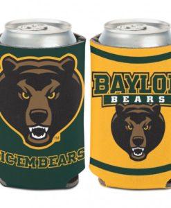 Baylor Bears 12 oz Green Yellow Can Koozie Holder