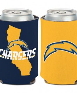 Los Angeles Chargers 12 oz Navy Yellow California Can Koozie Holder