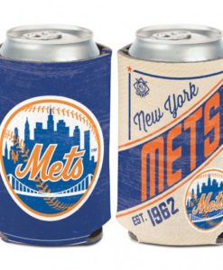 New York Mets 12 oz Blue Cooperstown Can Koozie Holder