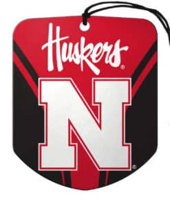 Nebraska Cornhuskers Air Freshener Shield Design 2 Pack