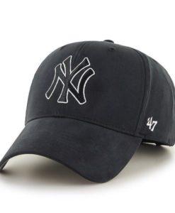 New York Yankees TODDLER 47 Brand Black White MVP Adjustable Hat
