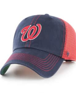 Washington Nationals 47 Brand Trawler Navy Red Clean Up Snapback Hat